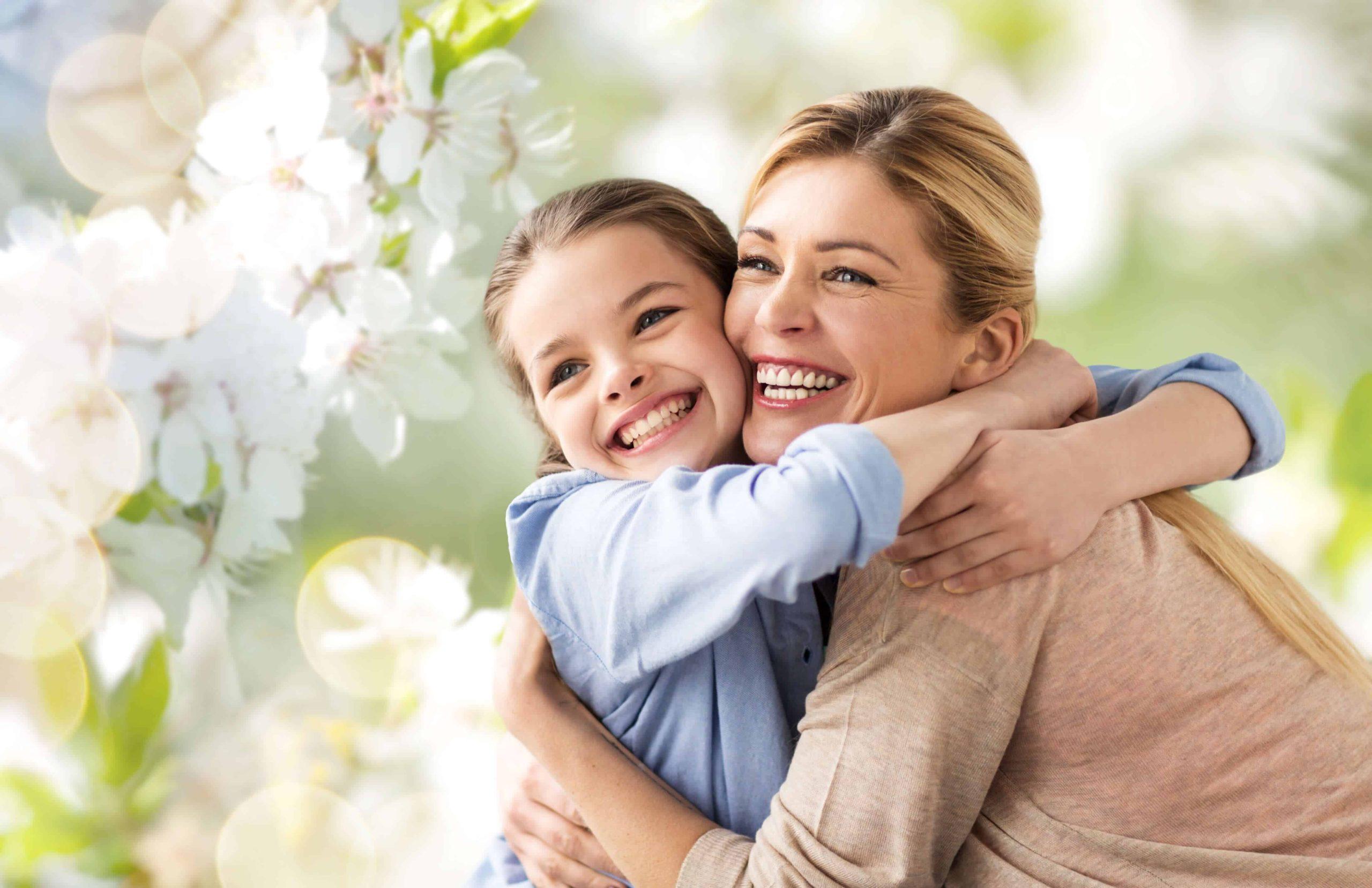 Mutter mit Tochter